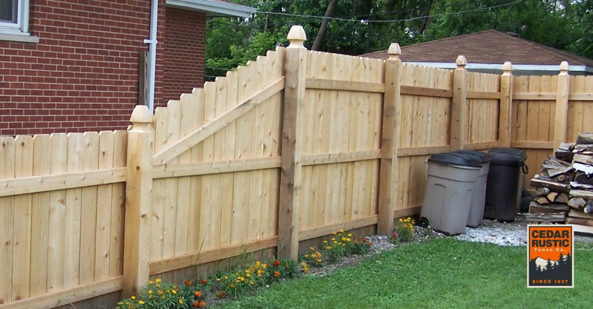 Transitioning Dog Eared Privacy Fence 45