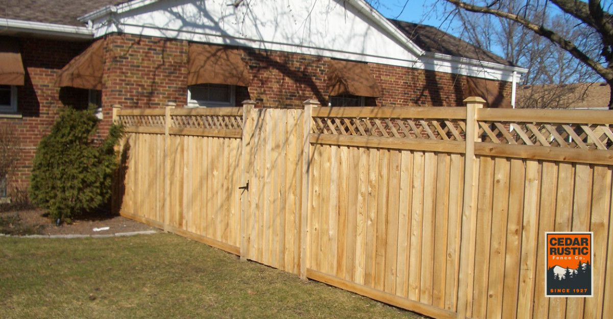 Board And Batten Privacy Fence W Lattice Top