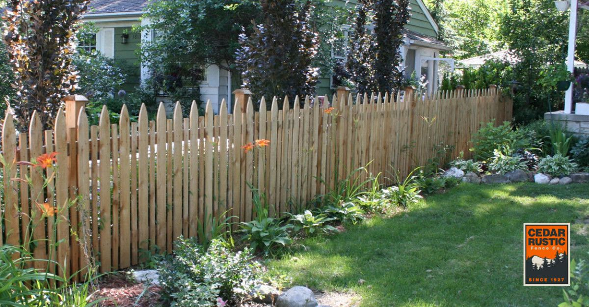 Boston Staggered Spaced Fence Cedar Rustic Fence Co