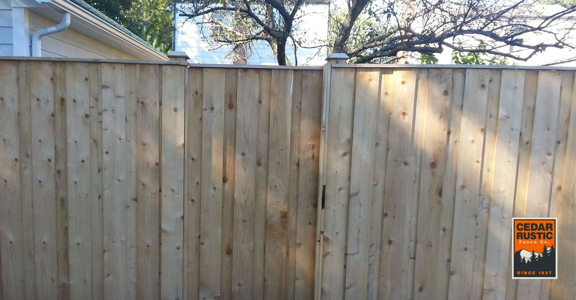Cedar Board Amp Batten Privacy Fence Cedar Rustic Fence Co