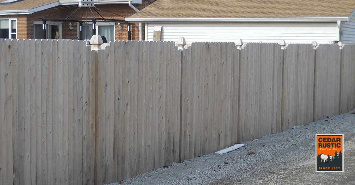 V Cut Style Privacy Fence Cedar Rustic Fence Co