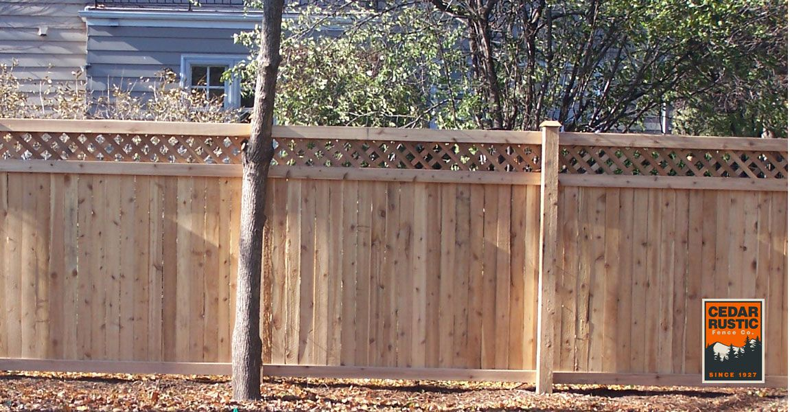 Privacy Fence With Lattice Top Cedar Rustic Fence Co