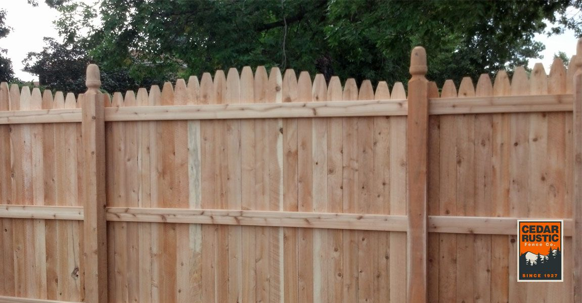 Barn Top Gothic Fence With Acorn Posts Cedar Rustic