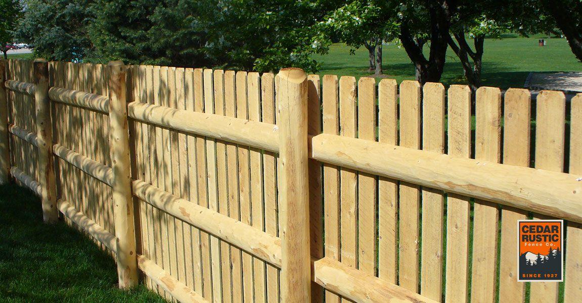 White Cedar Tight Spaced Fence Cedar Rustic Fence Co