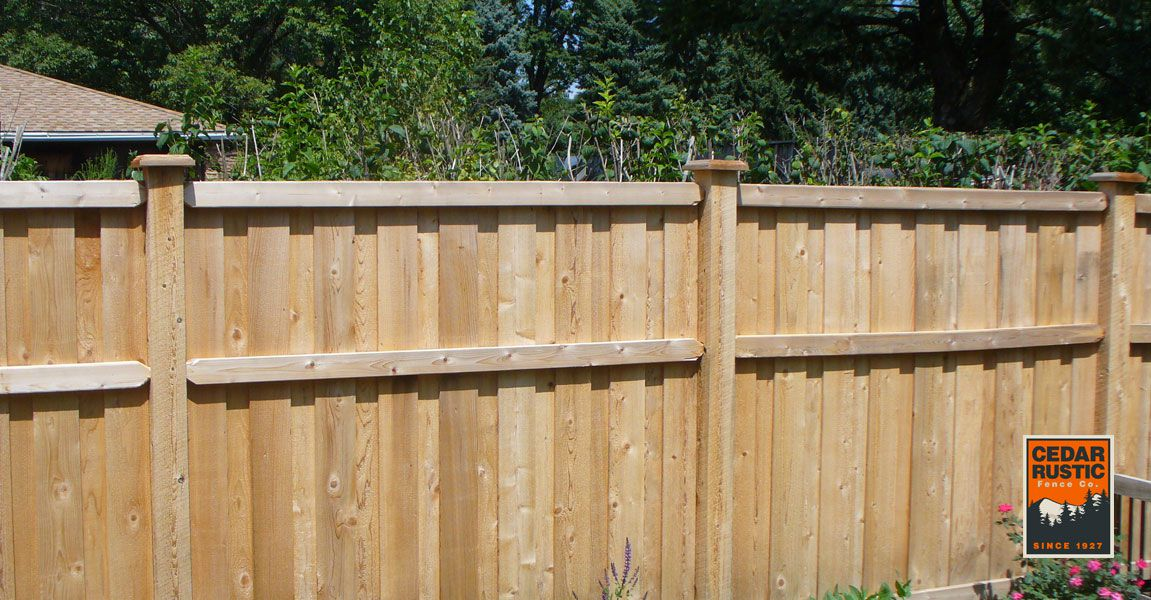 Picture of: Traditional Stack Board On Batten Cedar Rustic Fence Co