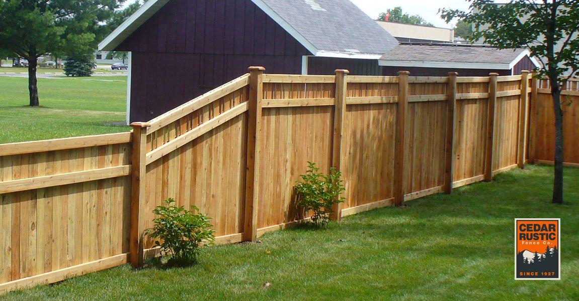 Hampton I Privacy Fence Cedar Rustic Fence Co