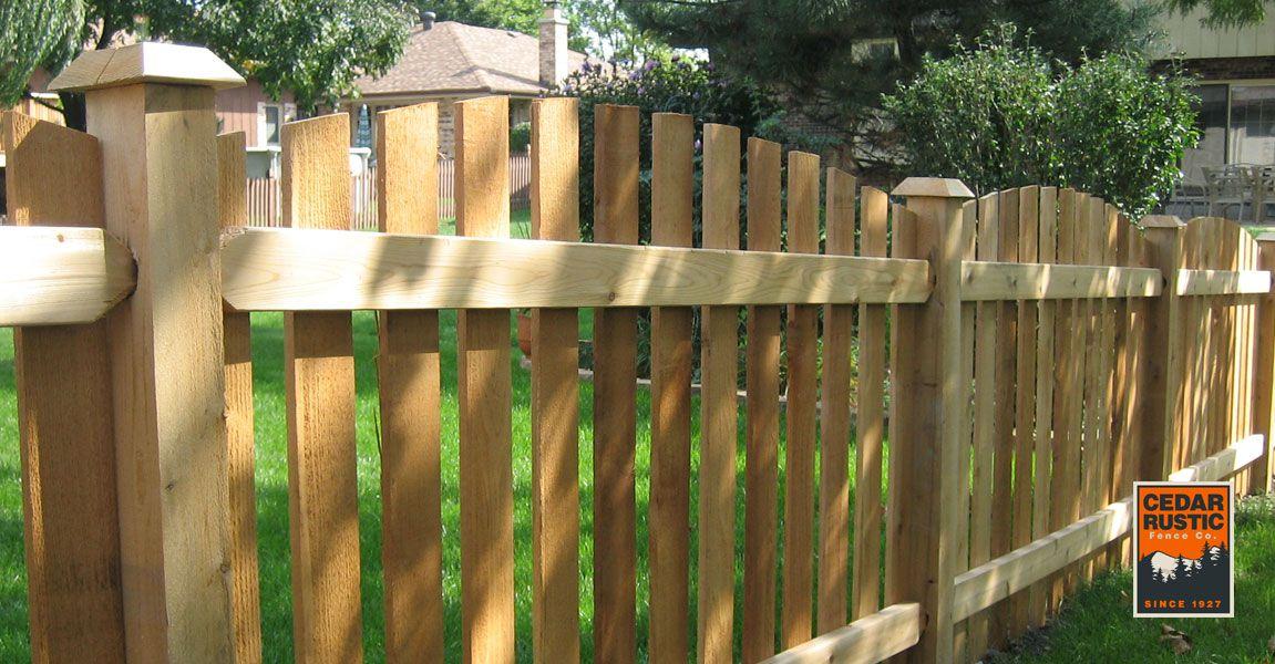 Cut Arch Spaced Picket Cedar Rustic Fence Co
