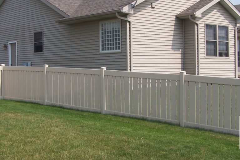 Manor I With Vinyl Gate Cedar Rustic Fence Co