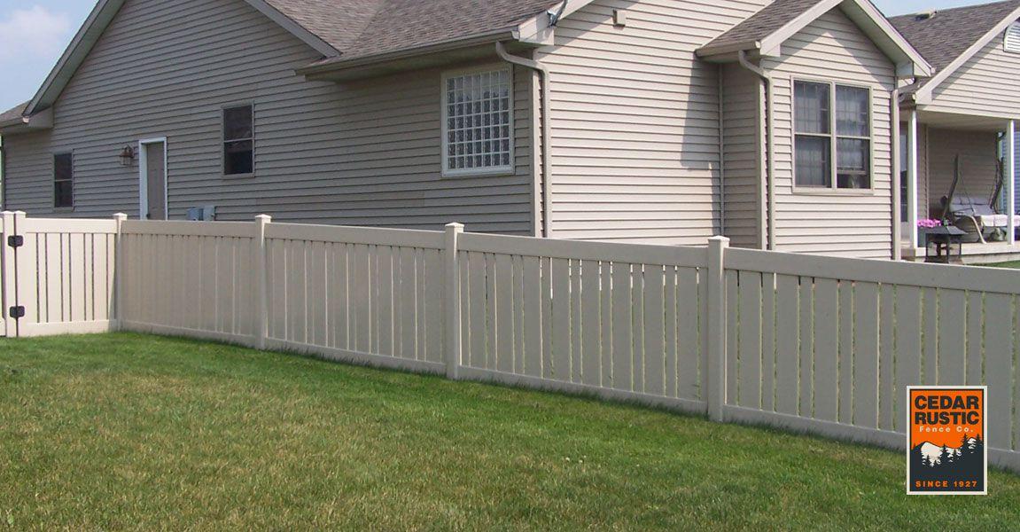 Almond Semi Privacy Fence Cedar Rustic Fence Co