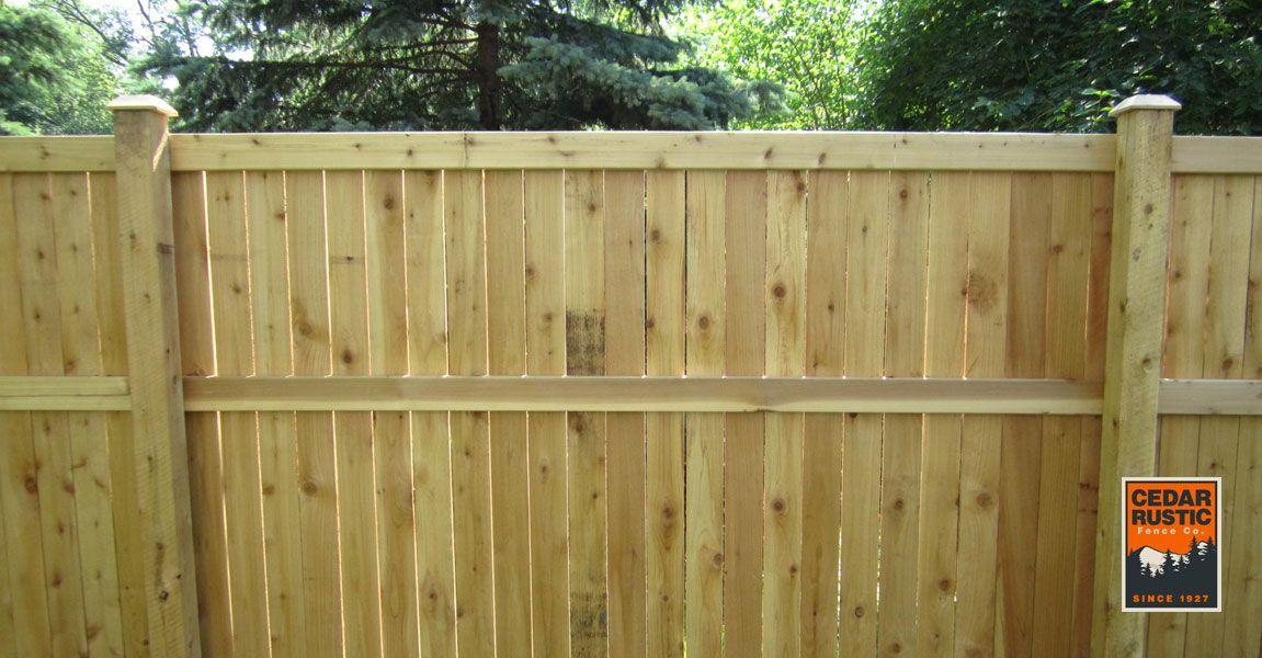 6 Traditional Cedar Fence Cedar Rustic Fence Co