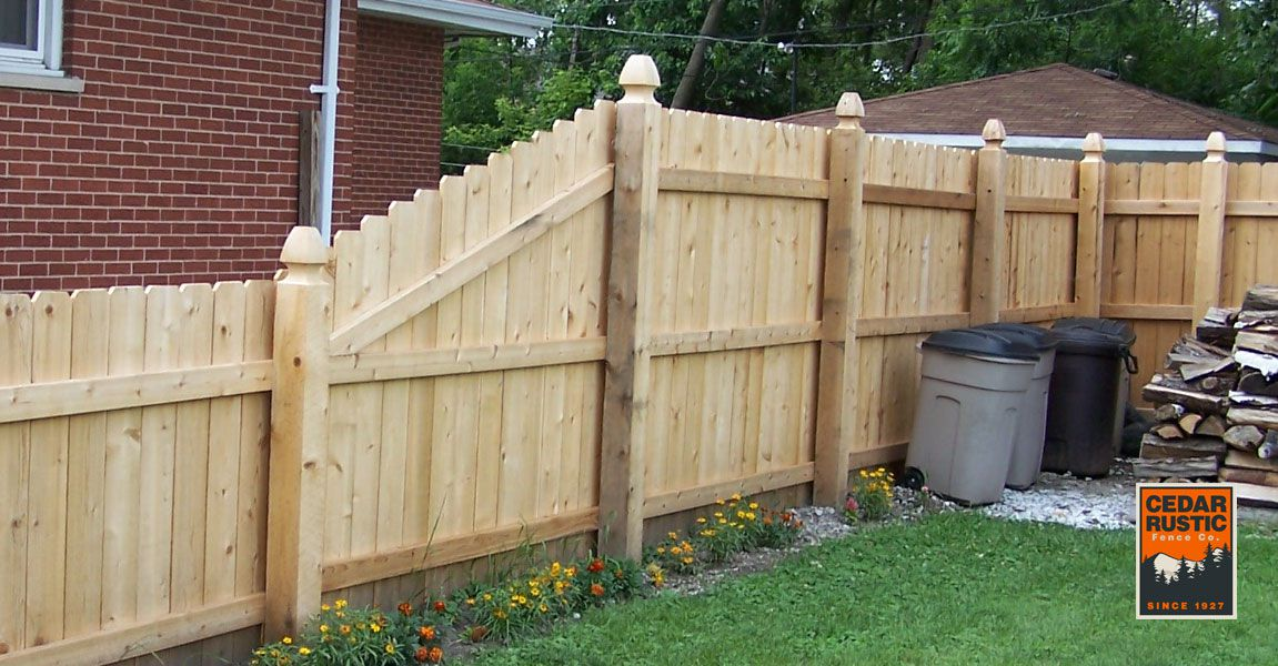 Transitioning Dog Eared Privacy Fence Cedar Rustic Fence Co