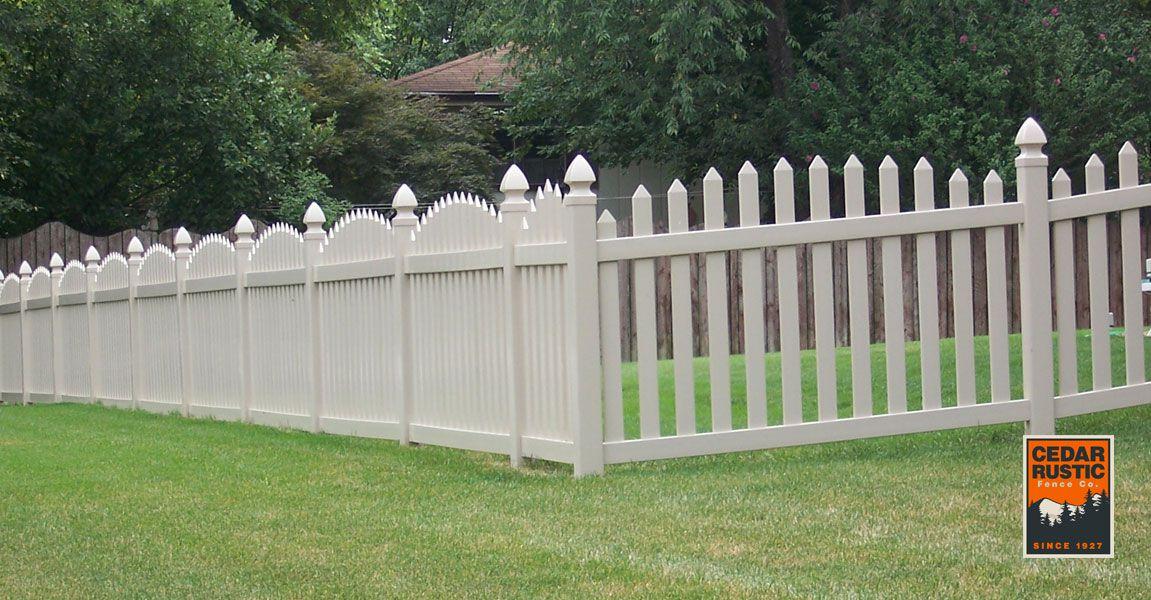 Tan Vinyl Cottage Fence Cedar Rustic Fence Co