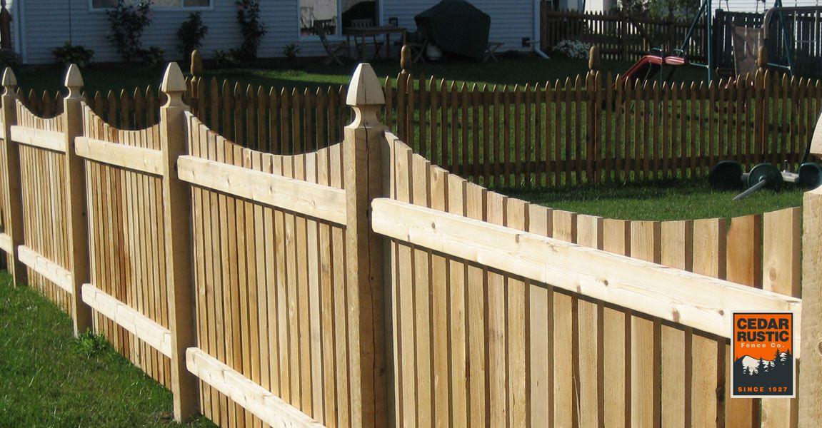 Cut Scallop Spaced Picket Cedar Rustic Fence Co