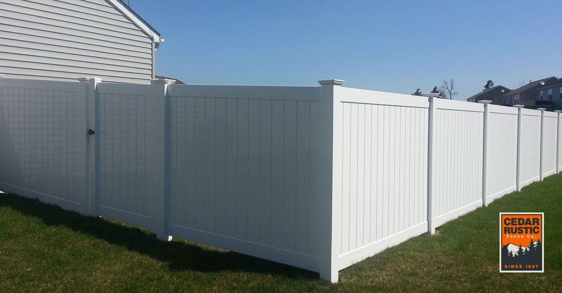White Vinyl Privacy Fence - Cedar Rustic Fence Co.