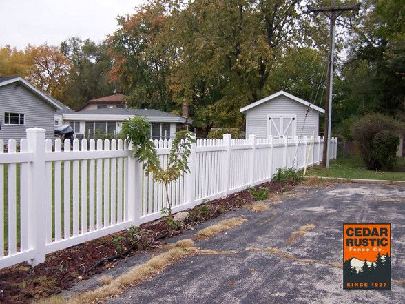 Marvelous Cottage Style Vinyl Picket Fence Cedar Rustic Fence Co Home Interior And Landscaping Ologienasavecom