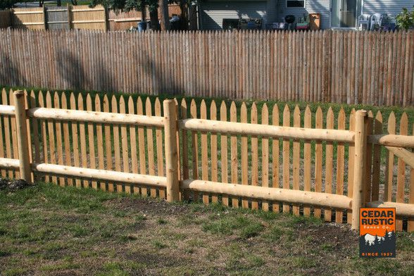 Milled Gothic Picket Fence Cedar Rustic Fence Co