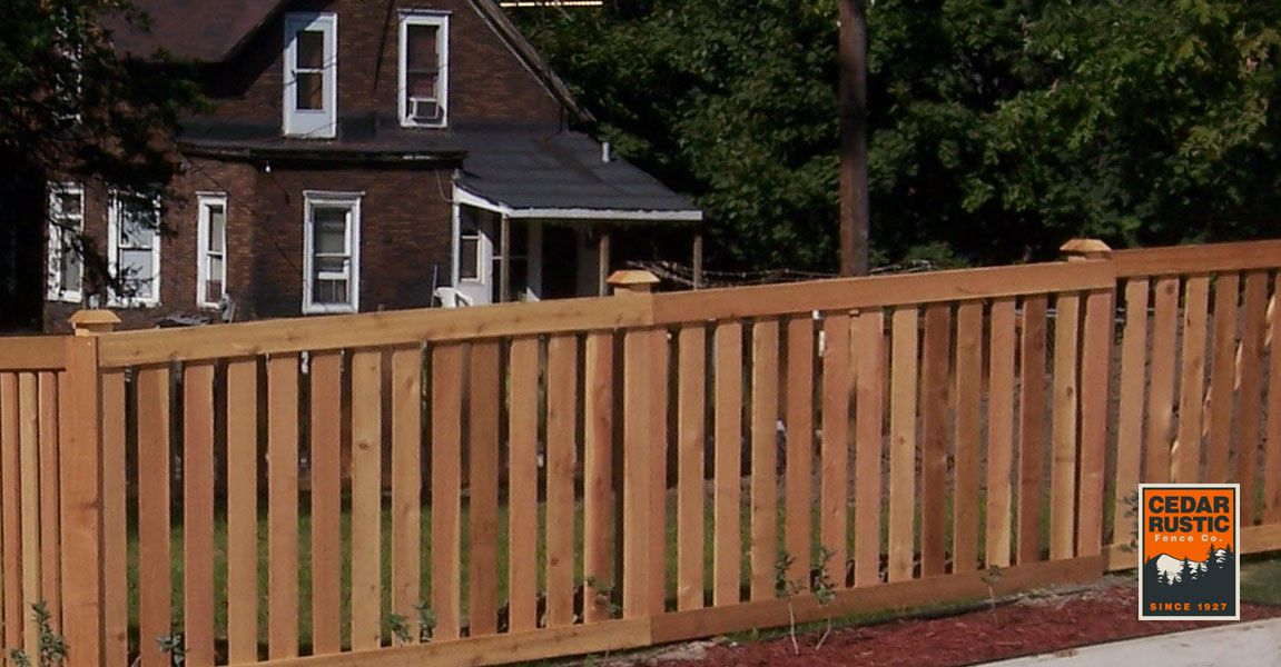 Traditional Spaced Picket Cedar Rustic Fence Co