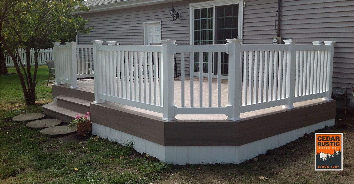 Brownstone Vinyl Deck Cedar Rustic Fence Co