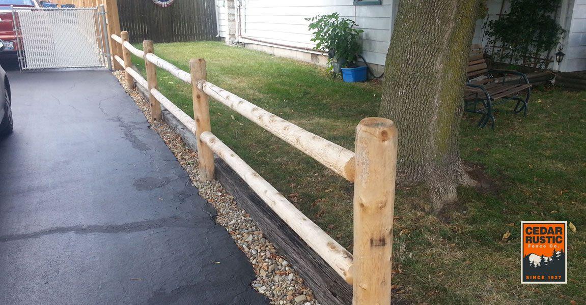 Two Rail Cedar Fence Cedar Rustic Fence Co