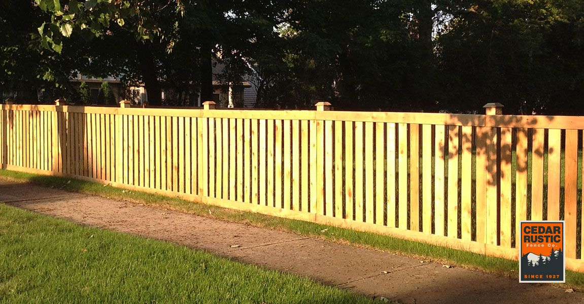 Traditional Spaced Picket Fence Cedar Rustic Fence Co