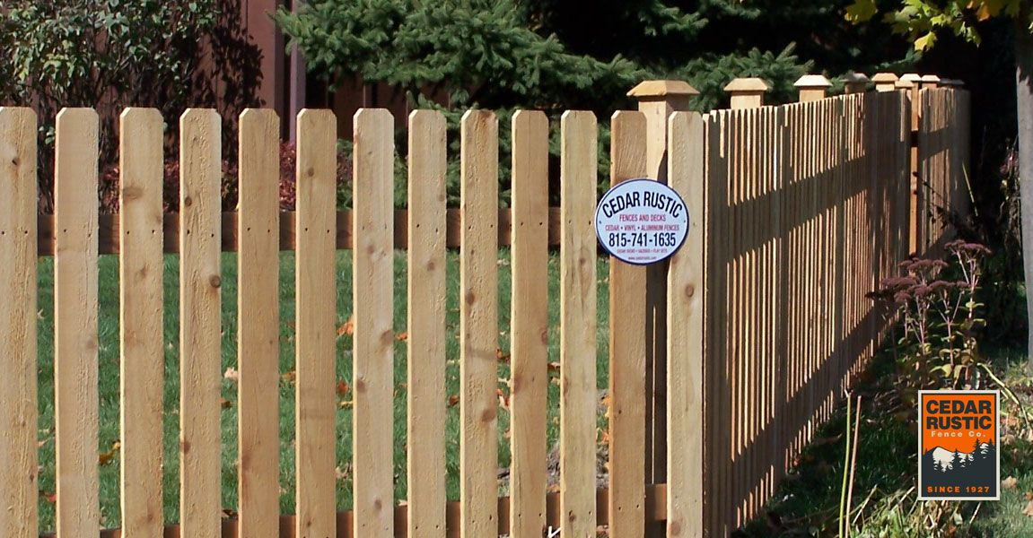 Classic Dog Ear Picket Fence Cedar Rustic Fence Co
