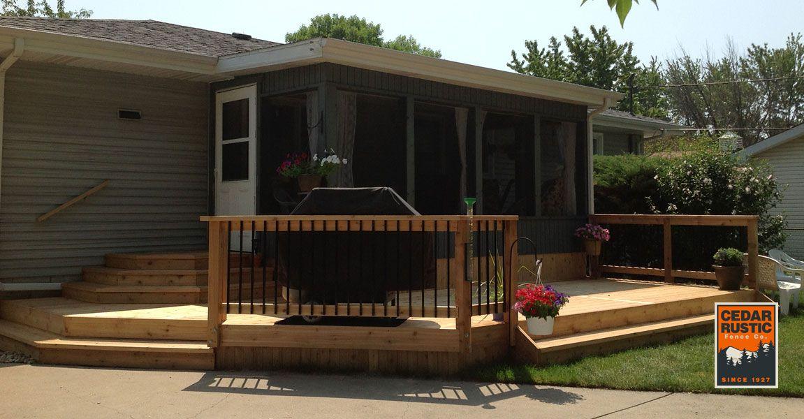 Screened Deck Cedar Rustic Fence Co