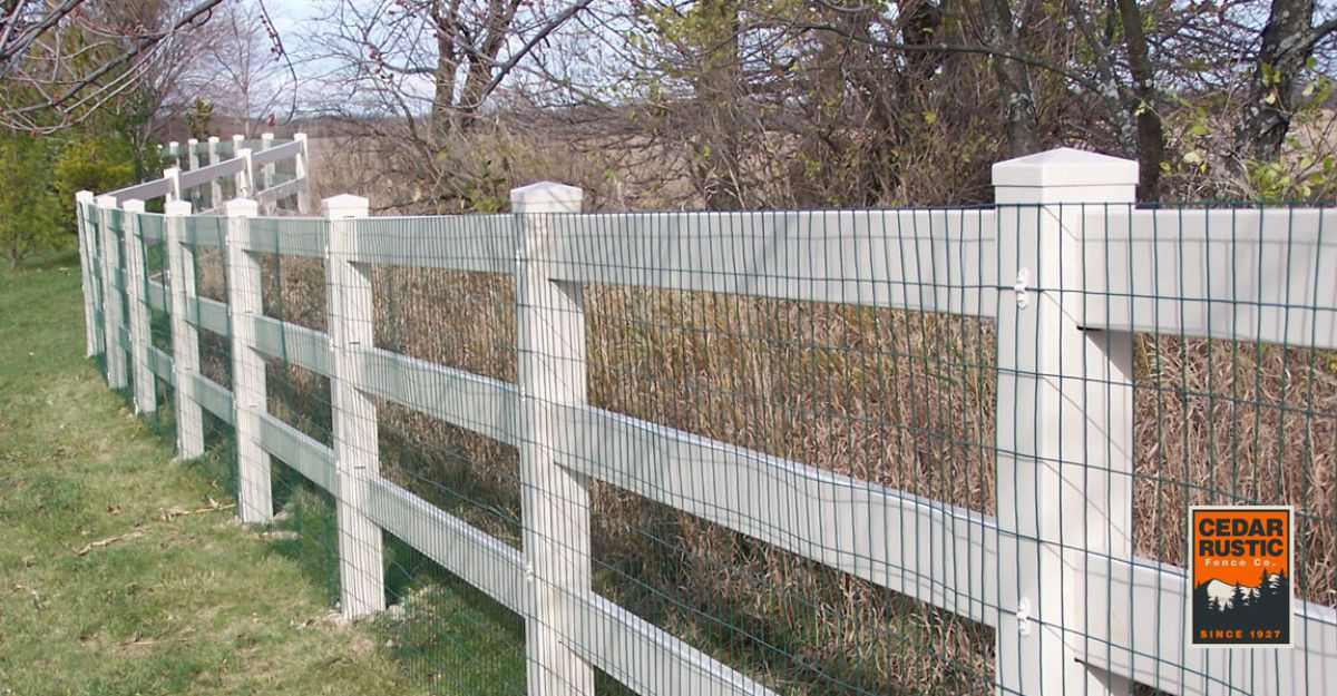 Three Rail Vinyl Fence Cedar Rustic Fence Co