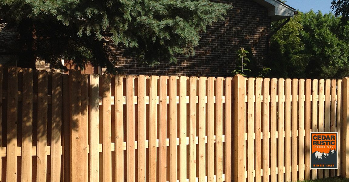 Shadow Board Fence With Chamfered Posts Cedar Rustic